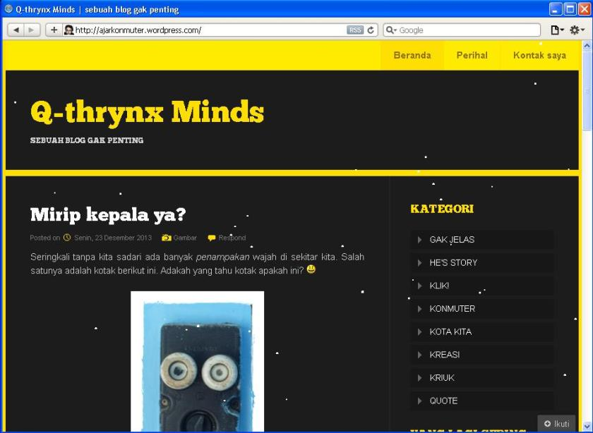 Q-thrynx Minds dibuka dengan safari :)