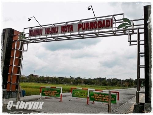 gerbang Taman Hijau kota Purwodadi