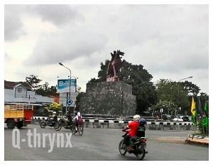 patung diponegoro bunderan getasrejo