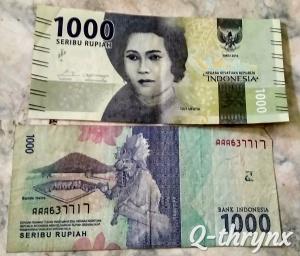 Uang seribu rupiah bergambar Cut Meutia